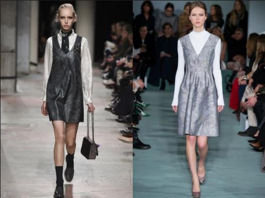 Модные платья осень зима